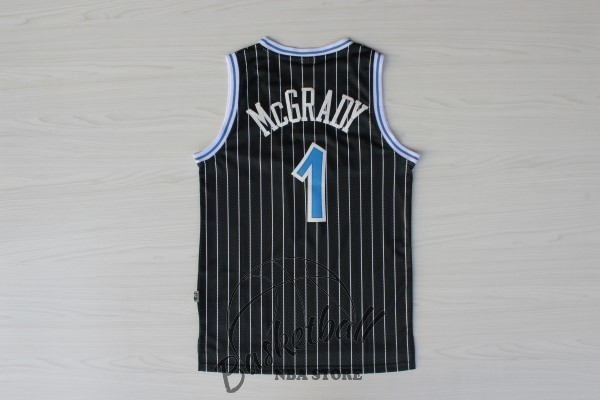 Choisir Maillot NBA Orlando Magic NO.1 Tracy McGrady Noir