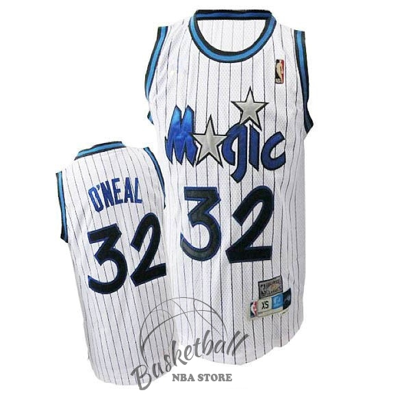 Choisir Maillot NBA Orlando Magic NO.32 Shaquille O'Neal Blanc