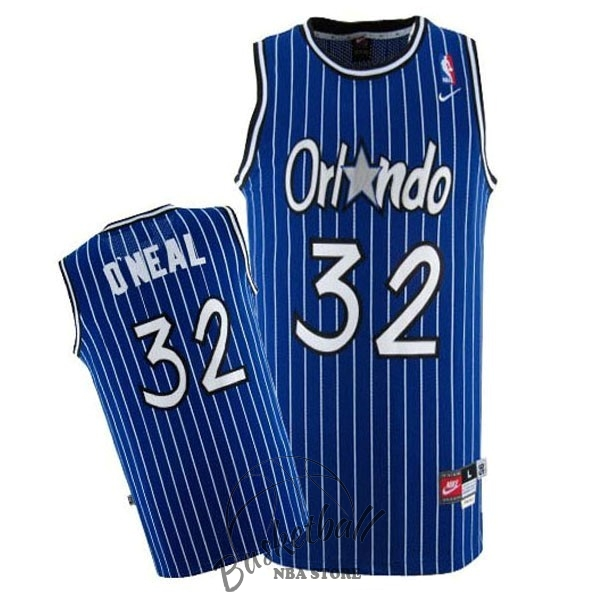 Choisir Maillot NBA Orlando Magic NO.32 Shaquille O'Neal Bleu