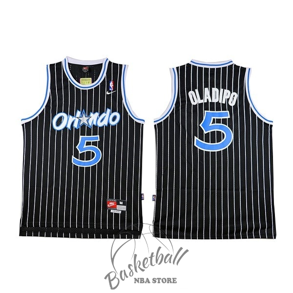 Choisir Maillot NBA Orlando Magic NO.5 Victor Oladipo Noir