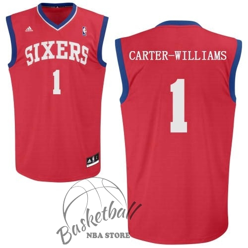 Choisir Maillot NBA Philadelphia Sixers NO.1 Michael Carter Williams Rouge