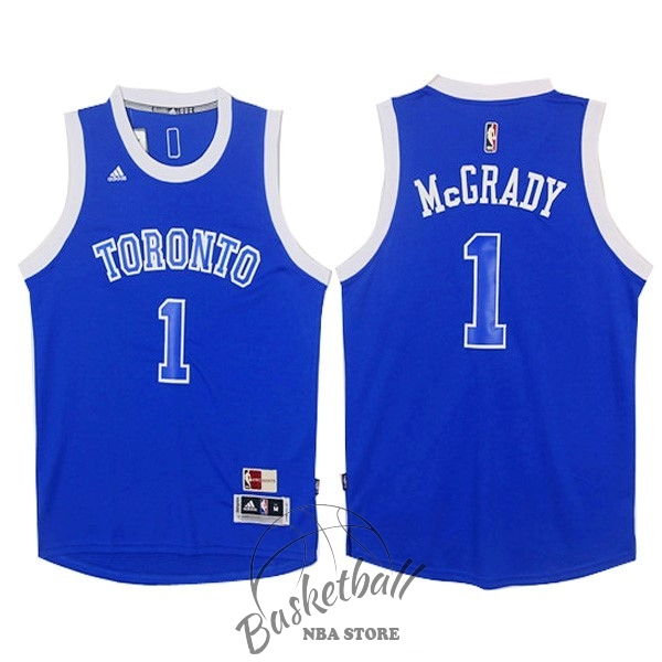 Choisir Maillot NBA Toronto Raptors NO.1 Tracy McGrady Bleu Blanc
