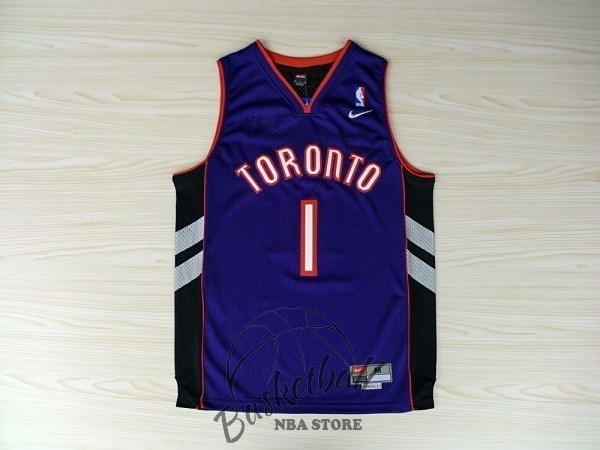 Choisir Maillot NBA Toronto Raptors NO.1 Tracy McGrady Bleu