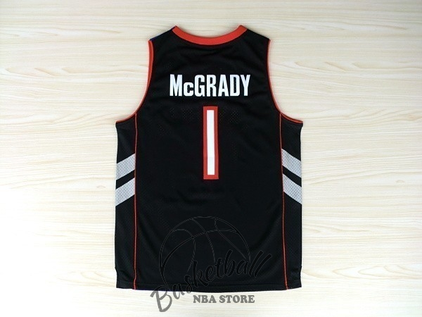 Choisir Maillot NBA Toronto Raptors NO.1 Tracy McGrady Noir