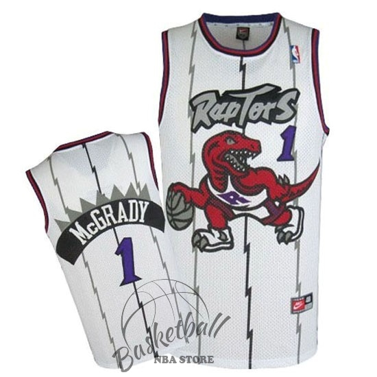 Choisir Maillot NBA Toronto Raptors NO.1 Tracy McGrady Retro Bleu