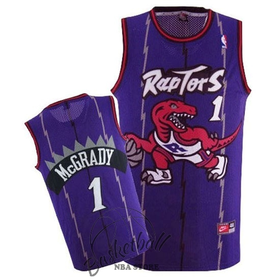 Choisir Maillot NBA Toronto Raptors NO.1 Tracy McGrady Retro Pourpre