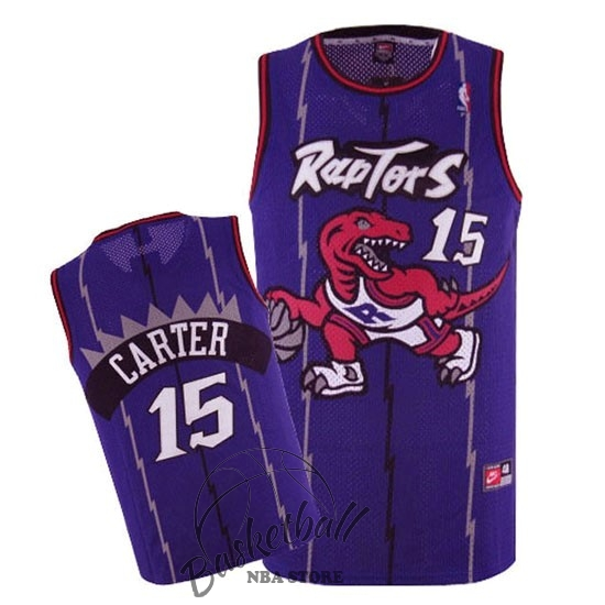 Choisir Maillot NBA Toronto Raptors NO.15 Vince Carter Retro Pourpre