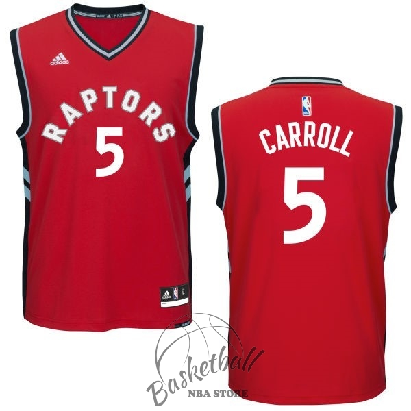 Choisir Maillot NBA Toronto Raptors NO.5 DeMarre Carroll Rouge