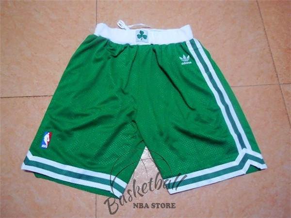Choisir Short Basket Boston Celtics Retro Vert