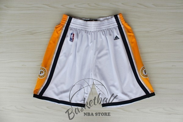 Choisir Short Basket Indiana Pacers Blanc