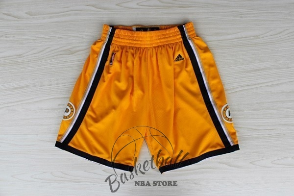 Choisir Short Basket Indiana Pacers Jaune