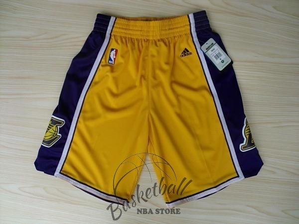 f78bb2d39ab56 Choisir Short Basket Los Angeles Lakers Jaune 2018 Pas Cher En ligne ...