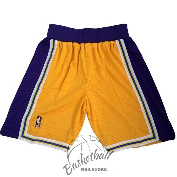 3eee72ada043e Choisir Short Basket Los Angeles Lakers Jaune Pas Cher En ligne ...