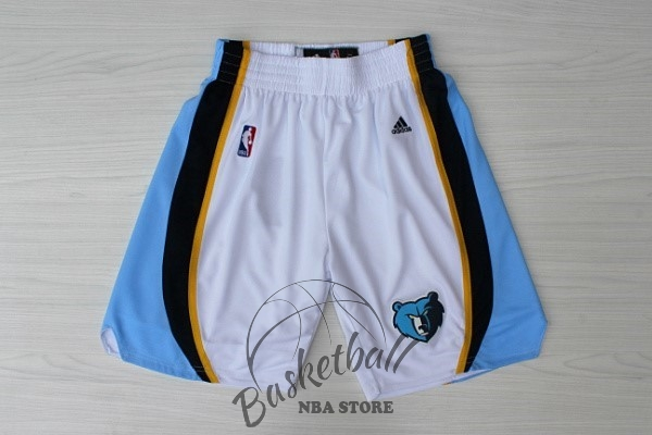 Choisir Short Basket Memphis Grizzlies Blanc
