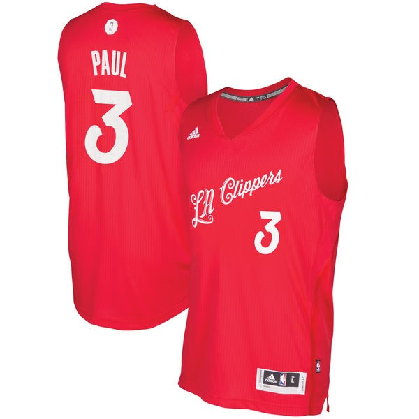 Choisir Maillot NBA Los Angeles Clippers 2016 Noël NO.3 Chris Paul Rouge